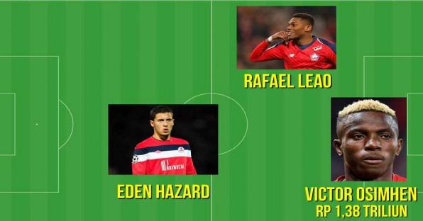 Line Up XI Dahsyat Lille Jika Tidak Jual Pemainnya