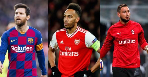11 Pemain Bintang yang Habis Kontrak Setahun Lagi, dari Messi Sampai Aubameyang