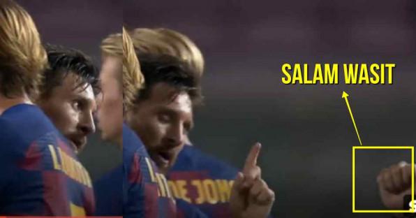 Momen Messi Tolak Salaman dengan Wasit, Ekpresi Marah