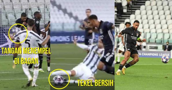 Dua Penalti Kontroversial Laga Juventus vs Lyon, Eksekusi Ala Panenka Depay